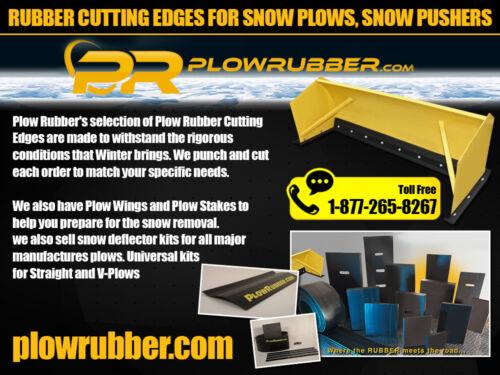 SNOWPLOW PLOW 6 FT SNOW DEFLECTOR ATV SNOW PLOW RUBBER