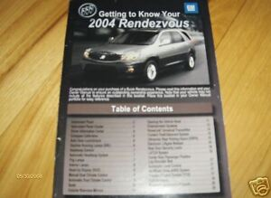 2004 buick rendezvous owners manual free download