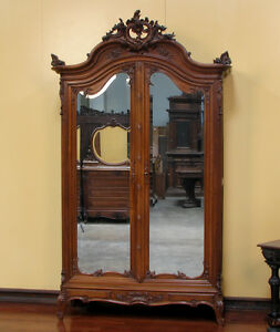 Large Antique French Louis XV Style 2 Door Armoire ...