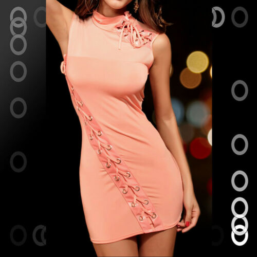 Pink Clubwear Party Cocktail Mini Dress with lace Lingerie LC2550-3