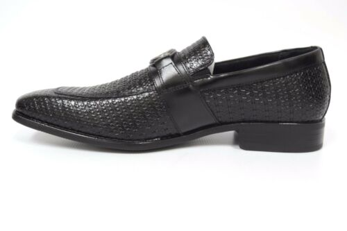 Stacy Adams Mannix Black Moc Toe Slip on Dress Casual Shoes 25106-001