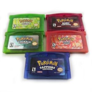 5PCS-Game-Card-Fan-Advance-For-Pokemon-NDSL-GBC-GBM-GBA-SP-Child-Gift