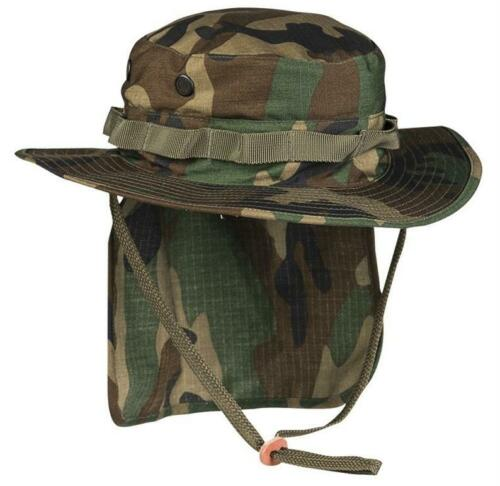 British Army Style Camouflage MTP Woodland Boonie Rip Stop with Neck Flap