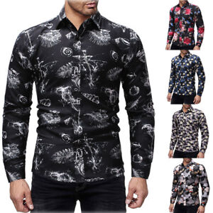 Fashion-Mens-Luxury-Casual-Stylish-Slim-Fit-Long-Sleeve-Casual-Dress-Shirts