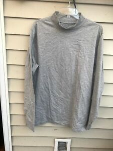 dcafbb4136 Lands End Mens XL 46-48 gray Cotton Long Sleeve Turtleneck Shirt