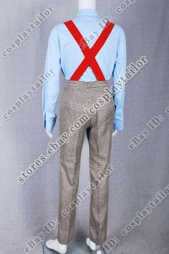 Shirt The Second Doctor Costume Who is 2nd Dr Uniform Outfit Suit Pants+Tie