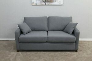 Willow-amp-Hall-The-Foxham-Designer-Grey-Fabric-2-Seater-Sofa
