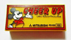 Disney Mickey Mouse Old Eraser Retro MITSUBISHI Rare Blue Vintage Mini Size