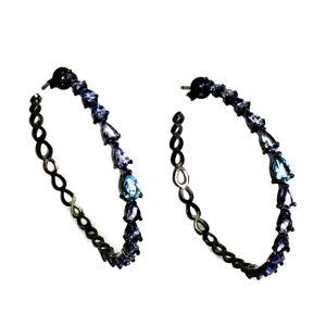 Pear-Swiss-Blue-Topaz-6x4mm-Tanzanite-Natural-925-Sterling-Silver-Earrings