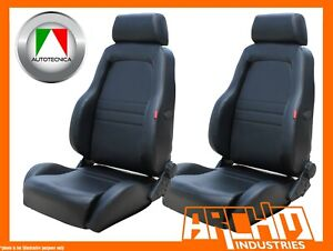 AUTOTECNICA-ADVENTURER-4X4-OUTBACK-SEAT-PU-LEATHER-BLACK-PAIR-2-RECLINABLE