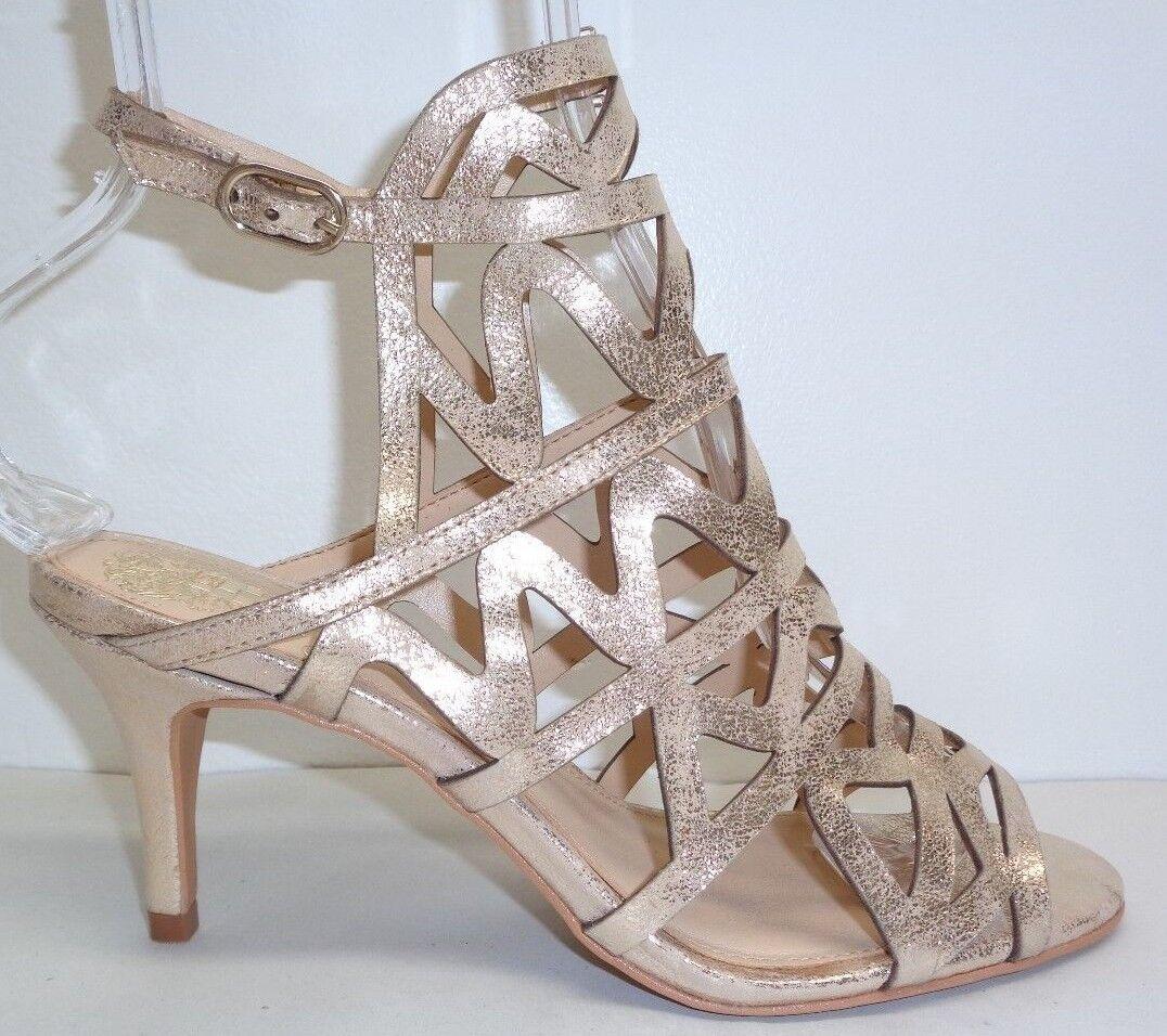Vince Camuto tamaño 8 M prisintha Metal Nuevos Mujer Zapatos Sandalias De Cuero Beige