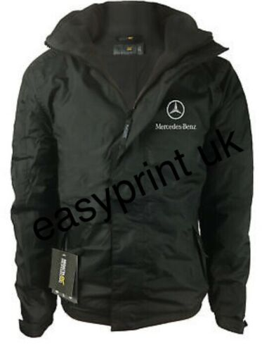 COAT FLEECE LINED WITH EMBROIDERED LOGOS MERCEDES BENZ JACKET