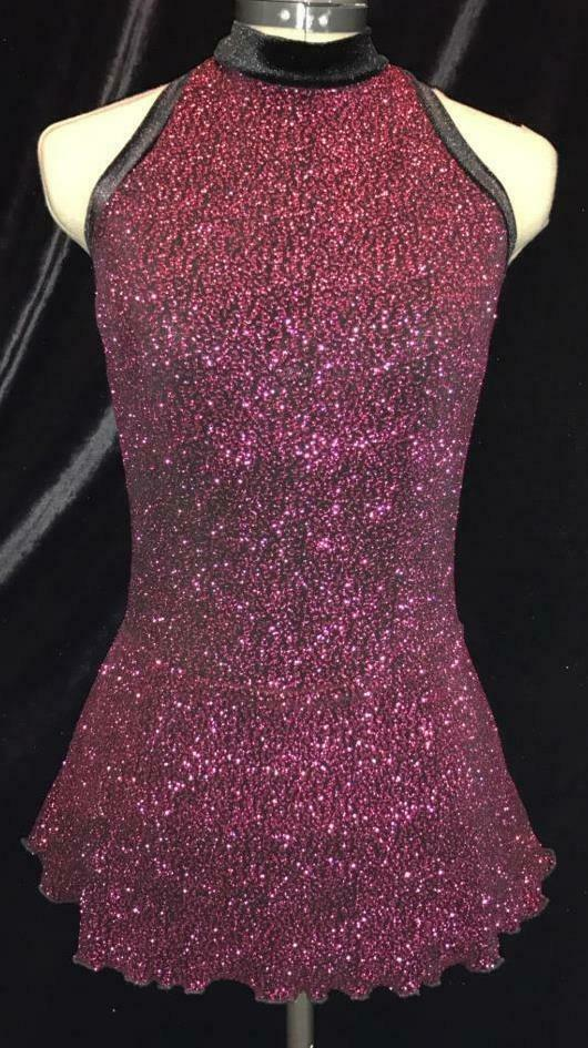 Hot Pink Competition Figure Ice Skating Dress