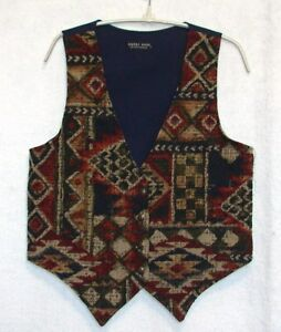 Saddle-River-Western-Rodeo-Tapestry-Vest-Size-Medium-Bust-36-034-Horse-Shows