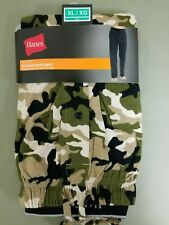 new mens hanes camo tagless printed knit lounge sleepwear pant.