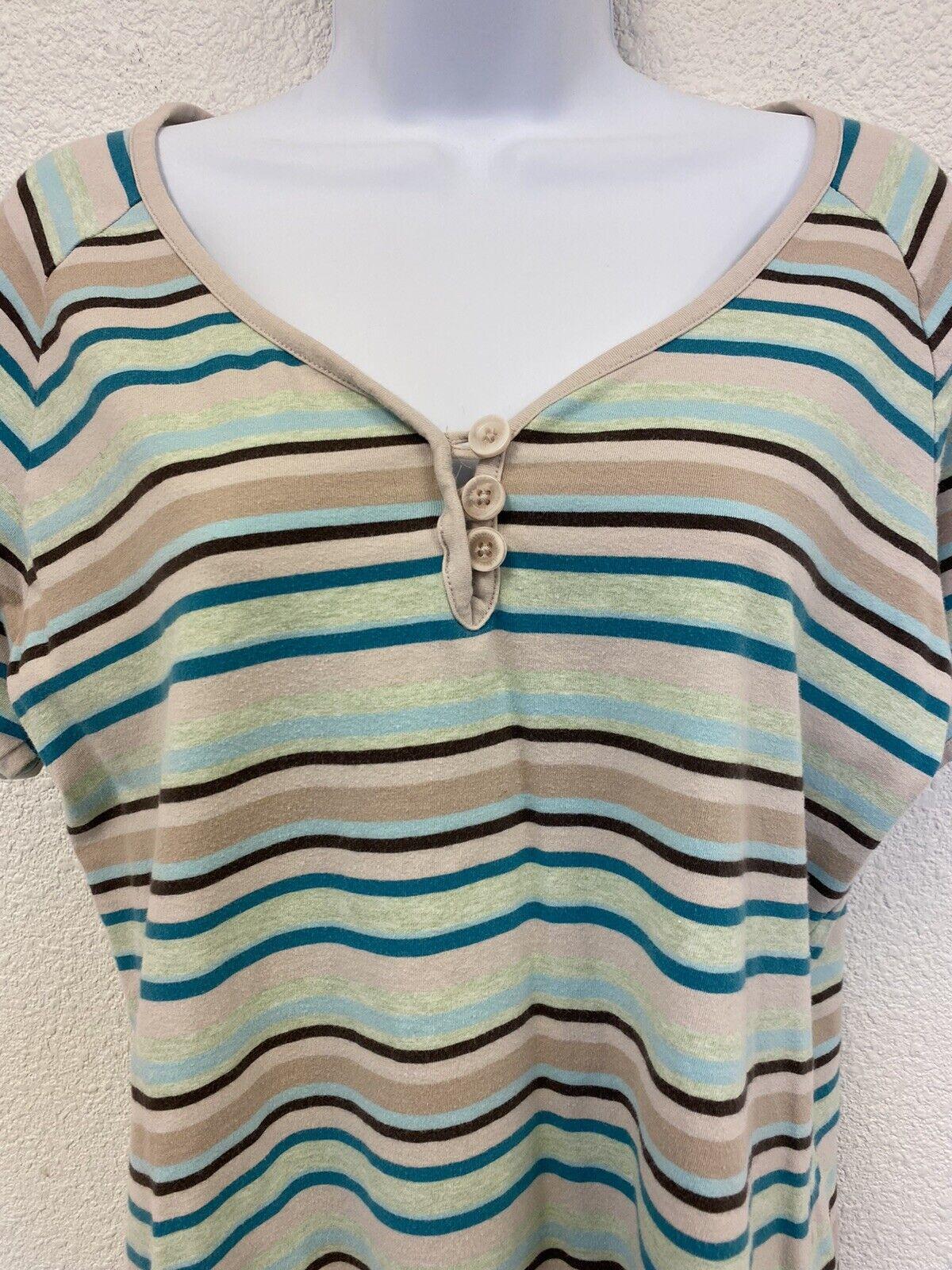 Christopher & Banks Women's Large Striped Short S… - image 3