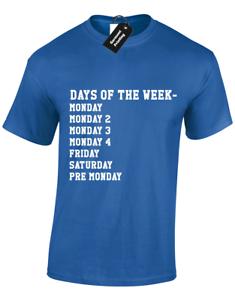 5XL Jours de la semaine lundi lundi 2 hommes T Shirt Drôle Motif Imprimé Haut S