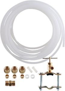 Refrigerator Ice Maker Water Line Tubing Installation Kit 25 Ft 1//4 New