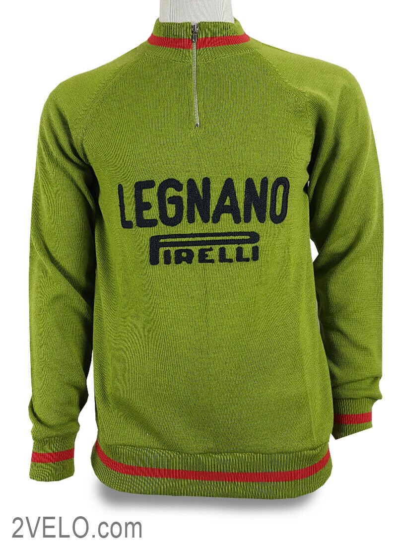 LEGNANO PIRELLI vintage wol lange mouwen trui, nieuw, nooit gedragen S