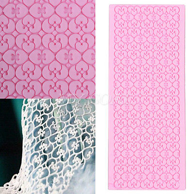 New Lace Silicone Mold Mould Sugar Craft Fondant Mat Cake Decorating Baking Tool