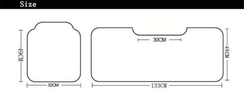 1PCS Car Rear Seat Cushion Black White Car Cushion PU Leather Four Season Mat