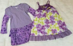 Penelope-Mack-amp-Circo-Lot-of-2-Girls-Size-4T-Dresses-Purple-Lots-of-Ruffles