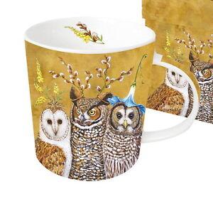Geschenk Set Becher Owl Family Eule Mug Porzellan Tasse Eulen Ppd