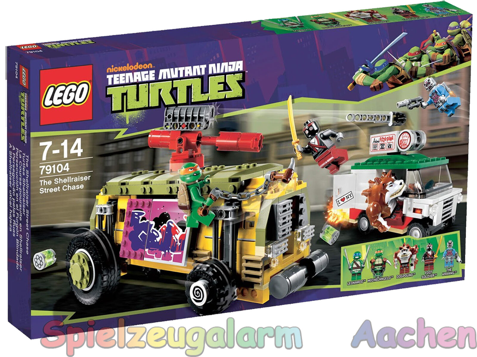 LEGO 79104 ninja turtles mutant shellraiser the street Chase la course poursuite