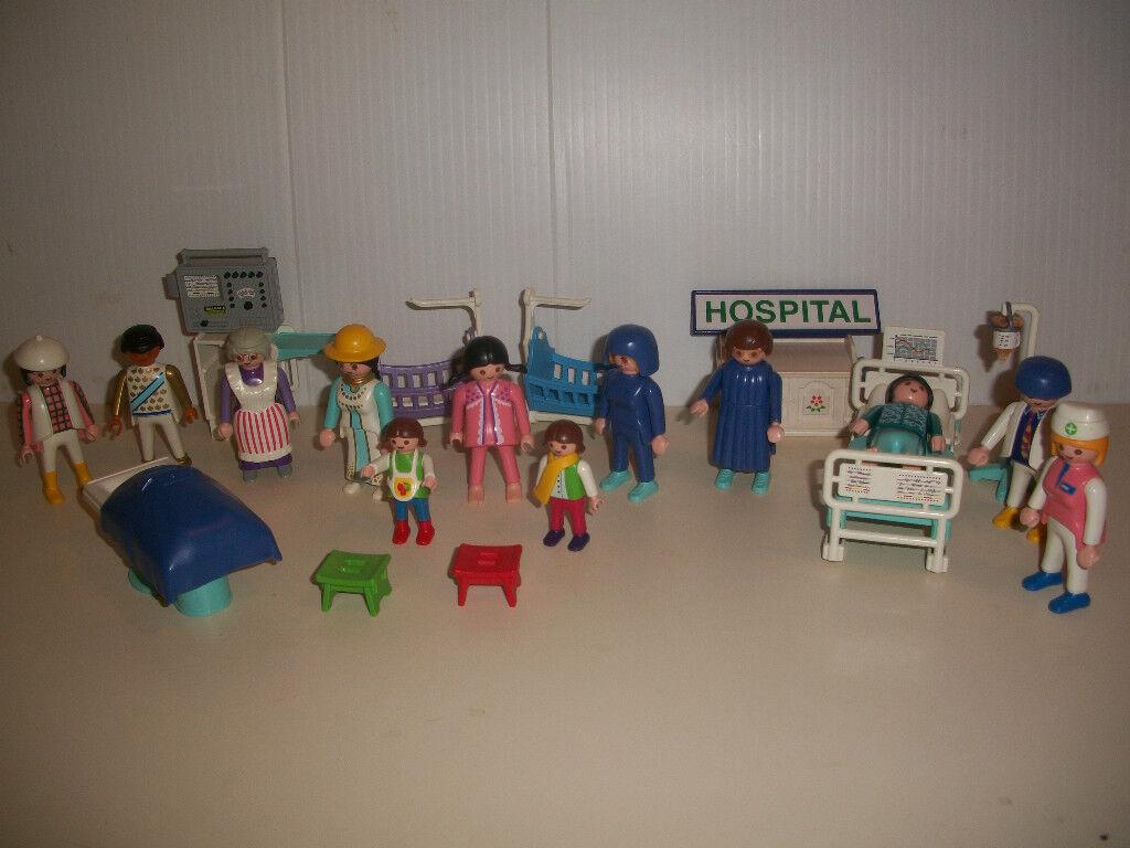 VINTAGE PLAYMOBIL, ACTION FIGURES & ACCESSORIES, GEOBRA, HOSPITAL SET, ANIMALS