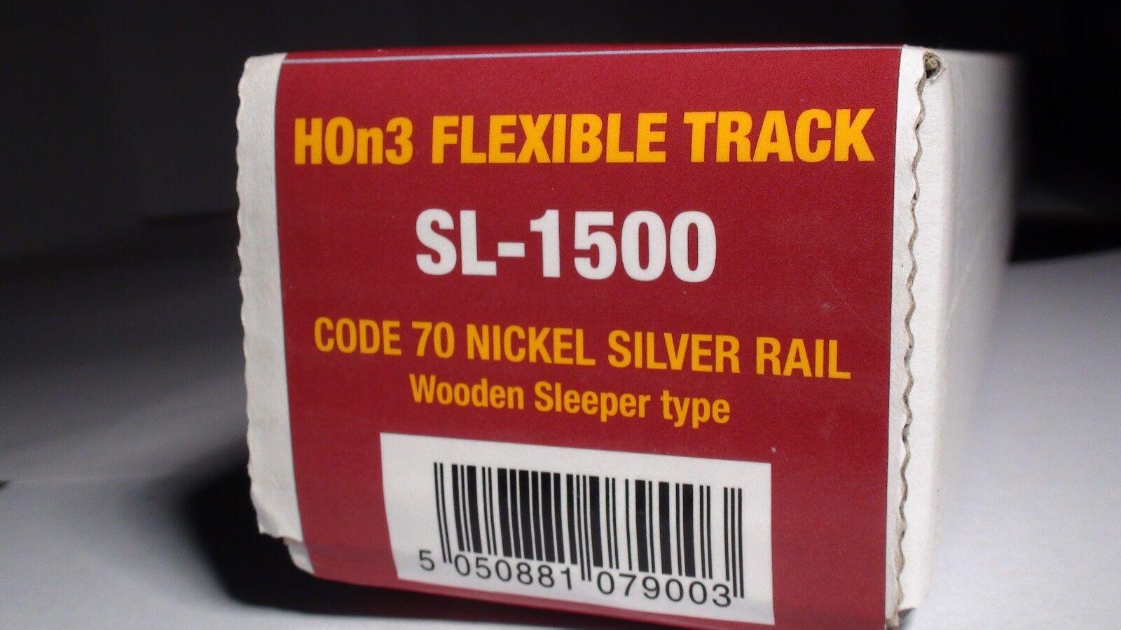 Peco Streamline SL-0 código HOn3 70 pista Flex 25PCS un seguimiento de plata de níquel