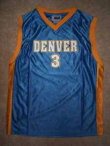 24e1372cf10 Image is loading THROWBACK-Denver-Nuggets-ALLEN-IVERSON-nba-Jersey-YOUTH-