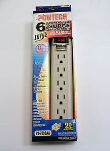 6 Outlets Power Strip Surge Protector With Safety Circuit