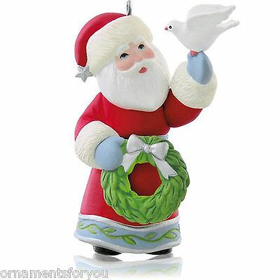 Hallmark 2014 A Visit From Santa Series Ornament CREASED BOX
