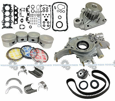 01-05 Honda Civic 1.7L D17A1 D17A2 D17A6  Engine Master Rebuild-Kit