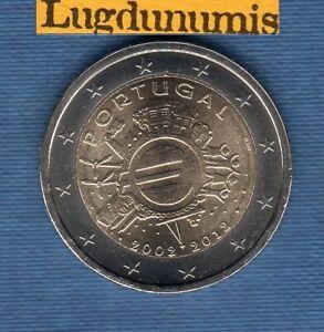 2 euro Commémo Portugal 2012 10 Ans de l'Eruo - Portugal