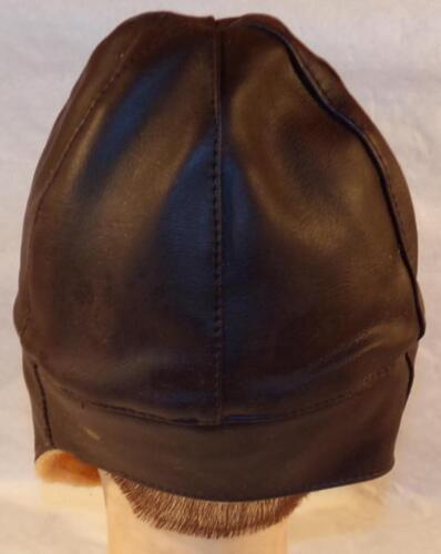 Bonnet//serre-tête cuir marron fourré de pilote//aviateur ou conducteur WW1 REPRO