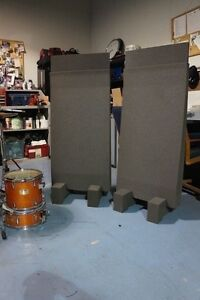 studio acoustic foam gobos 2 2 x 4 next dmass panels feet