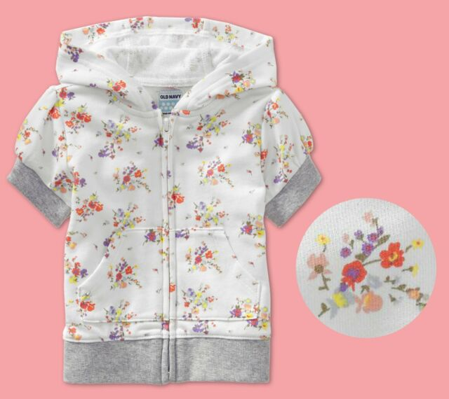 old navy baby toddler girl floral print french Terry ...