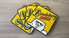 Set of 4 Bundaberg Rum Bundy Bear pvc rubber Drink Coasters bar mat runner