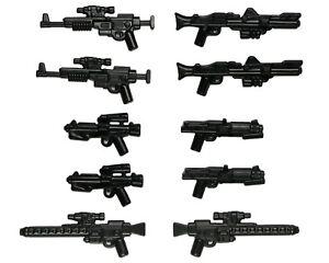 Lego-Star-Wars-Waffen-Blaster-Gewehr-Clone-Trooper-Rebel-Stormtrooper-Waffe-10-Stueck
