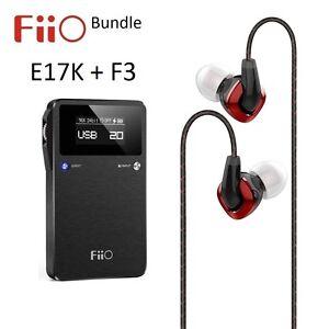 Fiio-E17K-Audio-Amplificador-de-auriculares-portatil-DAC-F3-IEM-Auriculares-Paquete