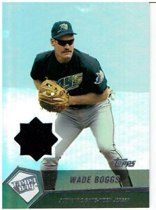 Details About Wade Boggs 2004 Topps Clubhouse Relics Jersey Card Wb Tampa Bay Rays