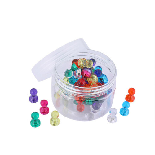 Office Translucent TL 60PCS Neodymium Magnets Small Strong Magnetic Push Pins