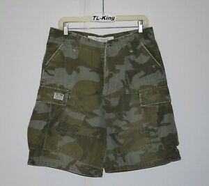 2006-Vintage-Zoo-York-Camo-Cargo-Shorts-sz-31-USED