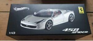 HOT-WHEELS-edizione-limitata-Ferrari-458-Spider-1-43-per-le-collezioni-per-adulti-NUOVO