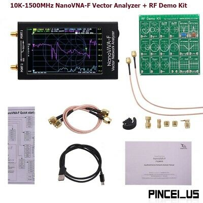 "4.3/"" NanoVNA-F Vector Network Analyzer 10K-1500MHz+RF Demo Kit Button//Thumbwheel"