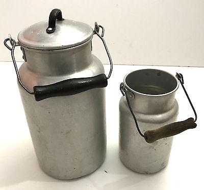 3 Liter Bauer Dekoration Sammler Einfach Zu Reparieren Alte Berufe Antiquitäten & Kunst Neue Mode Milchkannen 2 Stück Aluminium Kanne Alt 1