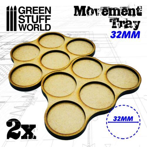 MDF Movement Trays 5 x 32mm Warhammer Miniatures Scenery GSW