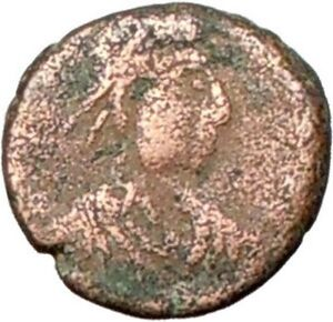 THEODOSIUS-II-425AD-Authentic-Ancient-Roman-Coin-CROSS-within-wreath-i28030