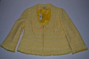 Taylor 6 Ny Plaid Størrelse Jacket Kvinder 3 Hvid Loft Gul Button Ann aqxdU4Fwa